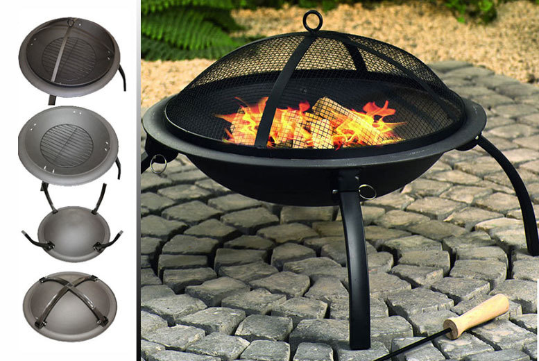£24.99 instead of £55 (from Sashtime) for a portable fire pit - use it as a patio heater, BBQ or camp fire and save 55%