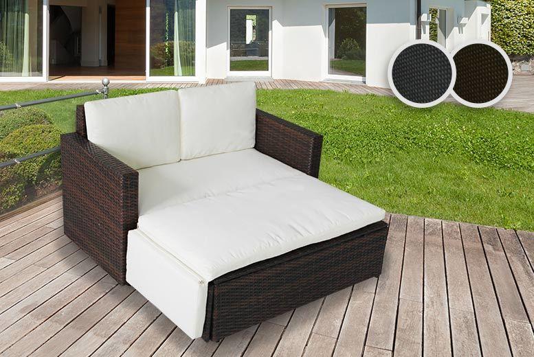 6pc rattan love sofa set