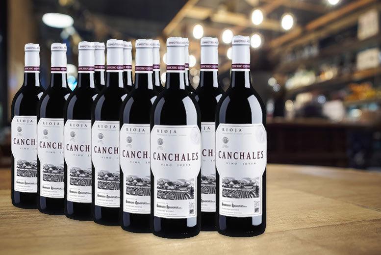 bottles of spanish rioja wine