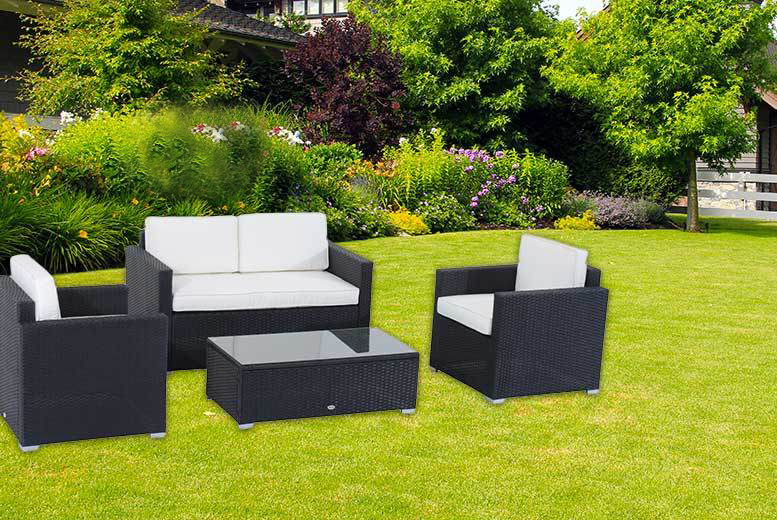 Wowcher deal 249 instead of 680 for a four piece for Garden furniture deals