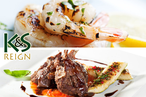 £18.40 instead of up to £36.80 for a 2 course meal for 2, inc. starter, main & side each + exclusive shisha at K&S Reign Grill – save up to 50%