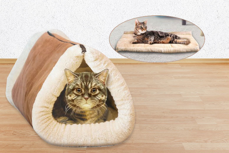 2-in-1 Kitty Kave Tunnel & Mat for £7.99