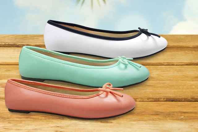 £14 for a pair of London Rebel ballet pumps in a choice of summer colours from Wowcher Shop  - save 30% + DELIVERY INCLUDED