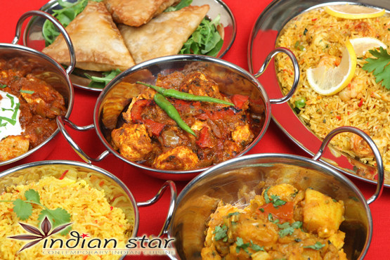 £18 for a 2 course Indian meal inc. starters, mains, rice, naan, wine or beer each & Indian tea for 2 or £36 for 4 at Indian Star - save up to 56%