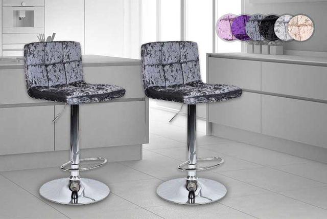 crushed velvet breakfast bar stools
