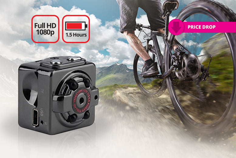 1080p Full HD Action Camera & 16GB SD Card Bundle for £19