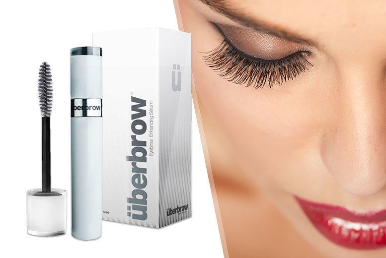 £12 instead of £77.95 for an Überlash or Überbrow eyelash or eyebrow enhancing serum - save 85%