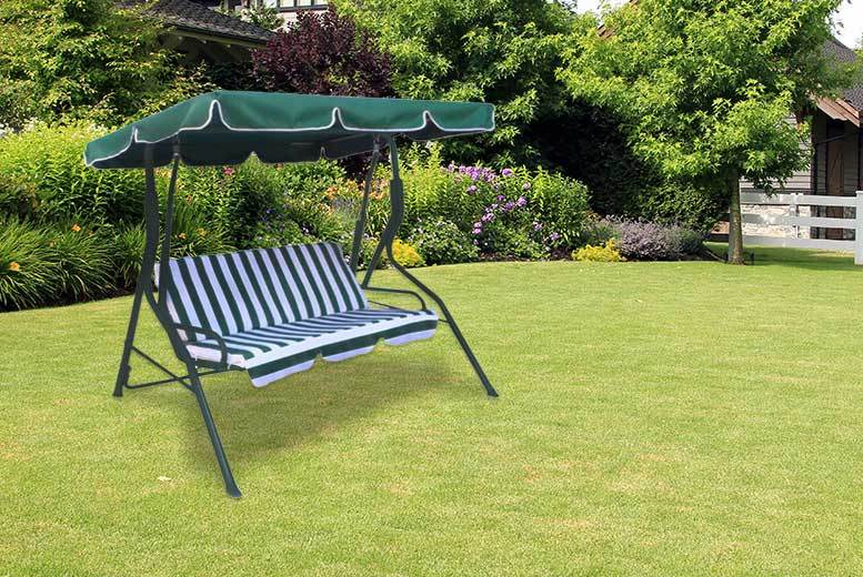 £49 instead of £120 (from Oypla) for a three-seater garden swing seat with a built-in sun canopy - save 59%