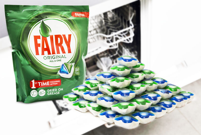 84 Fairy Automatic All-in-One Dishwasher Tabs for £11.99