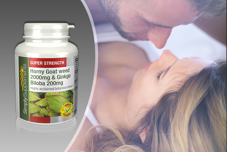 £12 instead of £29.19 (from Simply Supplements) for a two-month* supply of horny goat weed and ginkgo biloba capsules - save 59%