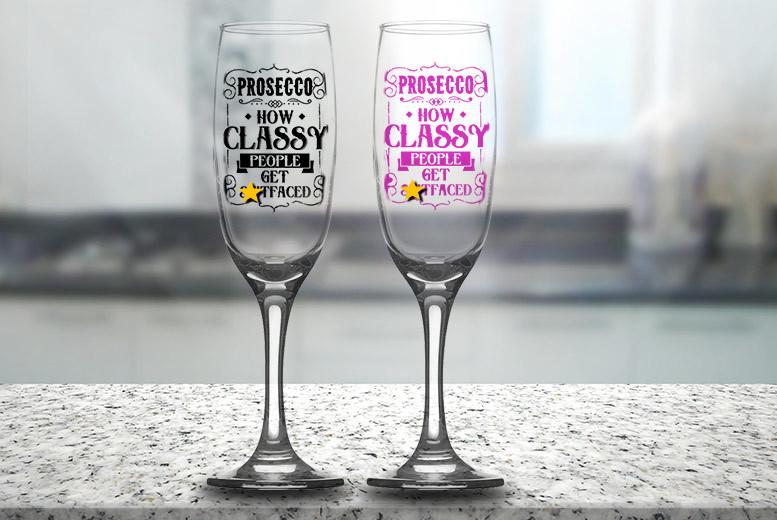 Novelty Champagne Flute Glass for £5.99