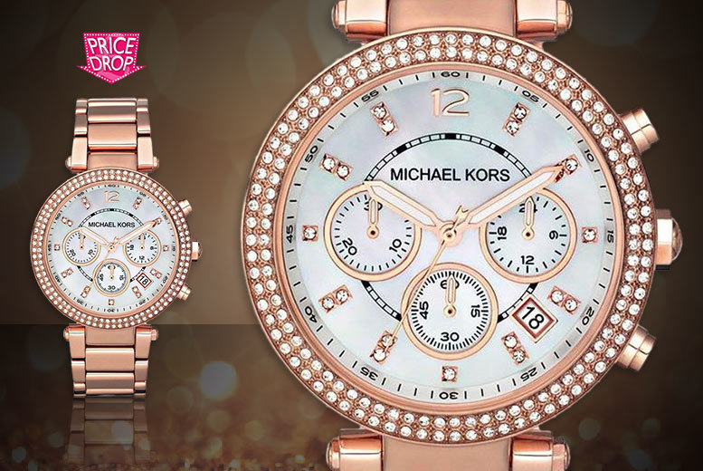 £109 instead of £222.01 for a Michael Kors ladies' Parker Chronograph watch - save 51%
