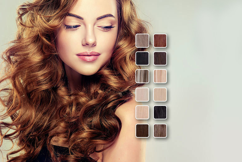 """£18 instead of £89.99 (from SalonBoxed) for 18"""" Remy human hair clip-in extensions - choose from 12 shades and save 80%"""