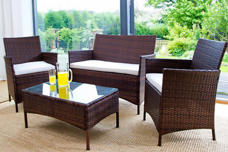 4pc Rattan Garden Furniture Set 109 Instead Of From Giomani Designs