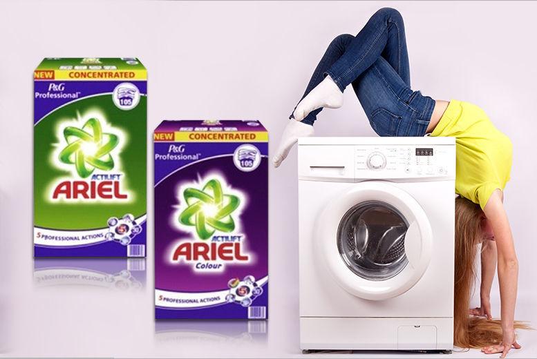 105-Wash* Ariel Actilift or Actilift Colour Washing Powder for £13.99