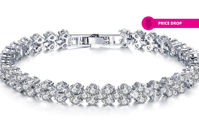 Clear Studded Multi-Link Bracelet for £12