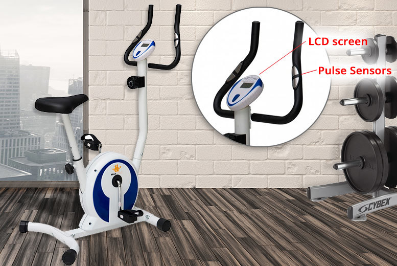 Magnetic Exercise Bike – 8 Resistance Levels & Pulse Sensor! for £79