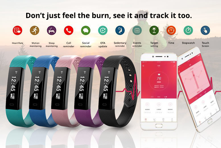 Advanced Waterproof 17-in-1 Smart Fitness Bracelet & Heart Rate Monitor – 10 Colours! for £19