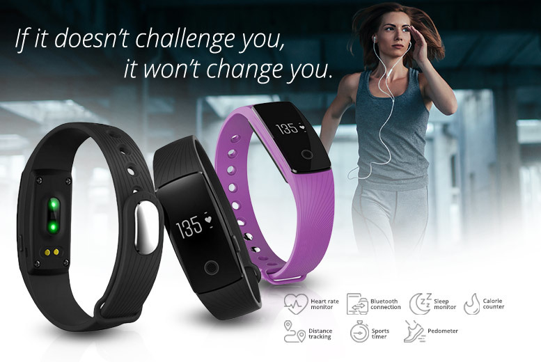 ID-Pro Fitness Tracker w/ Heart Rate Monitor- 5 Colours! for £19