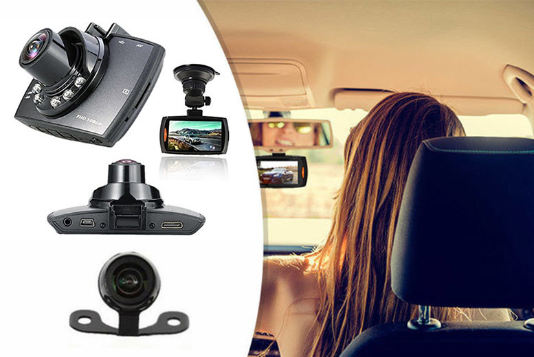HD Front & Rear Car Dashcam – 16 GB Option! from £25