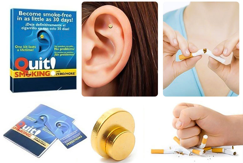 Quit Smoking' Auricular Therapy Magnets – Get 2 or 3! from £4.99