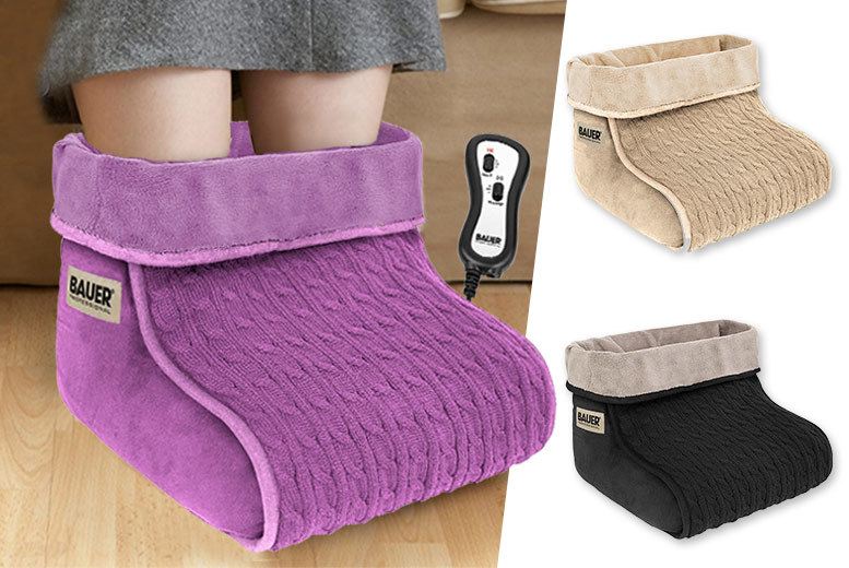 2-Speed Knitted Heated Foot Massager – 3 Colours! for £19.99