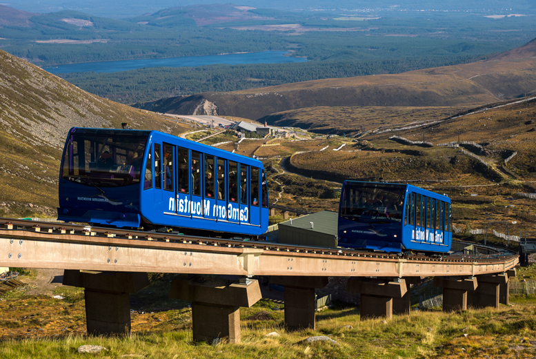 £10 instead of up to £24 for two adult tickets for the CairnGorm Mountain Funicular Railway - save 58%