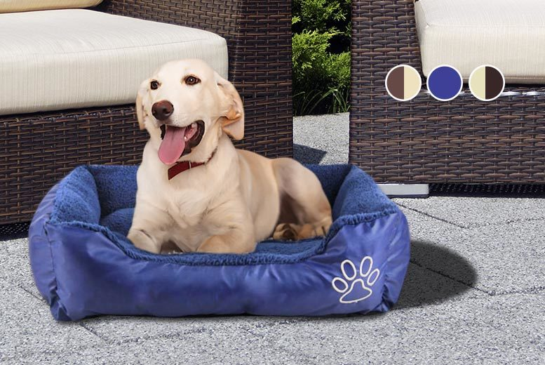 £6 for a small deluxe dog bed, £8 for medium, £10 for large, £12 for XL or £14 for XXL - save up to 62%