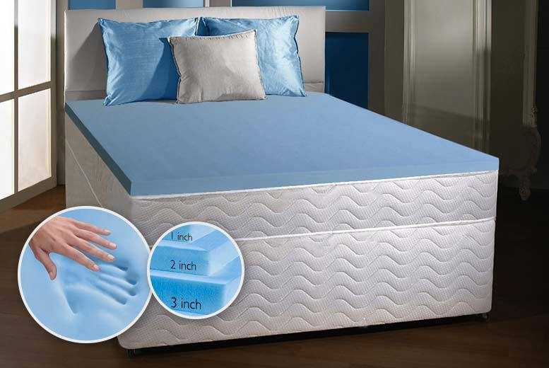 Luxury Cool Blue Fusion Memory Foam Topper