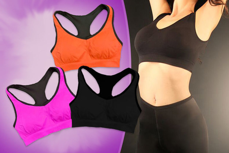 Shock-Absorbing Sports Bra – 3 Sizes! for £8