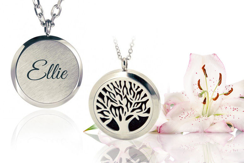 Personalised Oil Diffuser Tree of Life Necklace for £4.99