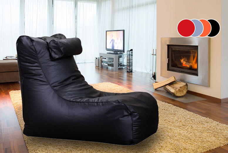 XXL High-Back Faux Leather Beanbag - 4 Colours!