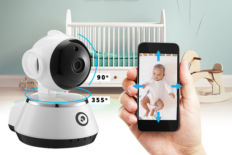 360° Rotate & Tilt Smart HD Baby & Pet Monitor from £22