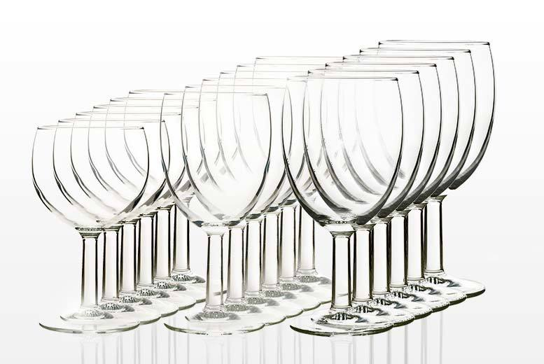 18pc wine glass set