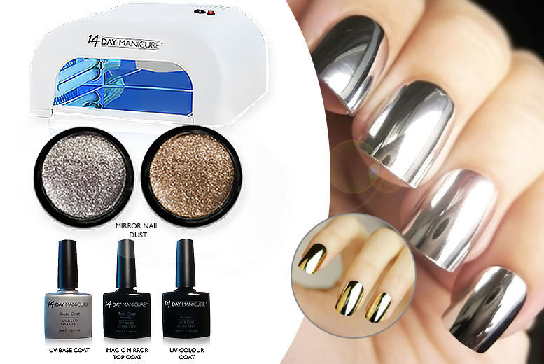 6pc Mirror Nail UV Kit – 1 Colour for £29