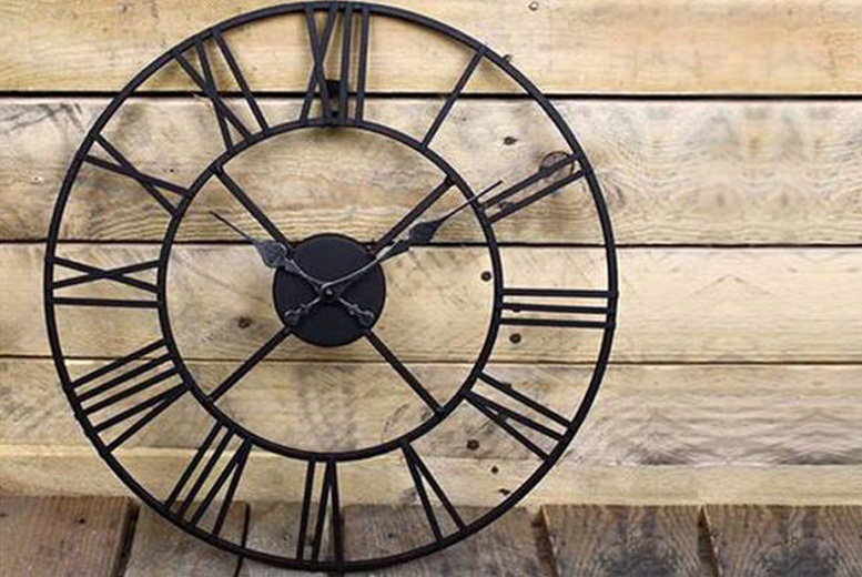 Vintage Cast Iron Garden Wall Clock – 40, 60 or 78cm Diameter from £14.99