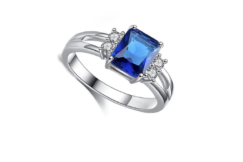 Blue Created Sapphire Ring for £7.99