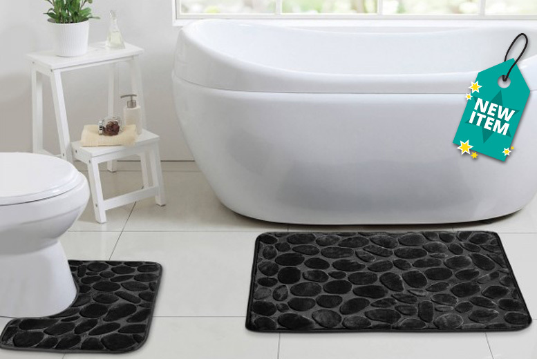 Non-Slip Bath Mat Set – 6 Colours! for £6.99