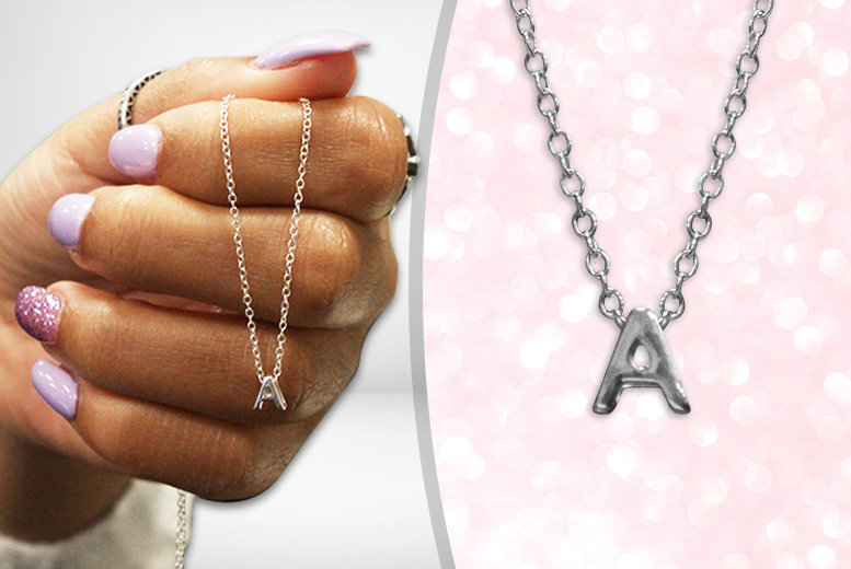 Sterling Silver Petite Initial Necklace for £7