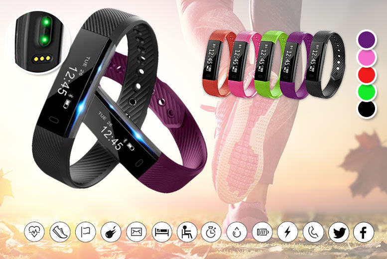 VeryFit 2.0 Fitness Tracker with Heart Rate Monitor – 4 Colours! for £19