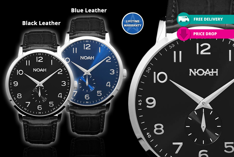Luxury Noah 'Classic Leather' Collection Unisex Watches – 4 Designs! for £129