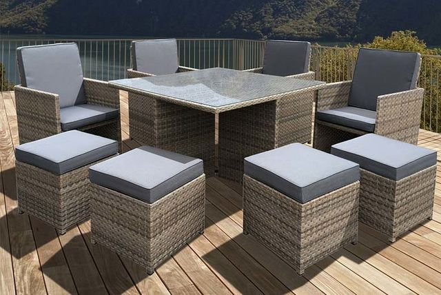 pc OSeasons® Cube Rattan Garden Furniture Set  Table
