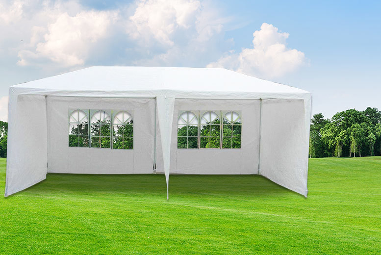 £49 instead of £130 (from UK Home and Garden Store) for a large 3m x 6m garden marquee-style gazebo - save 62%