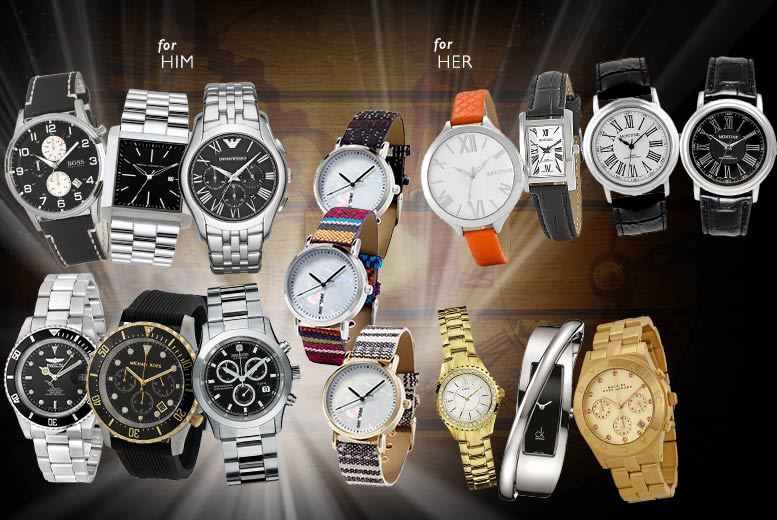 £10 for a mystery watch for him or her - Michael Kors, Marc Jacobs, Calvin Klein, Armani, Hugo Boss, Guess and more!