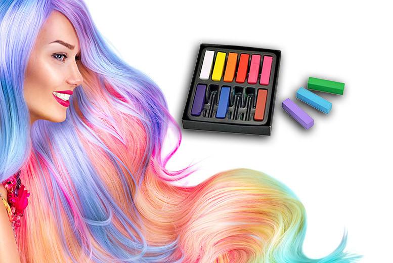 12pc Unicorn Temporary Pastel Hair Chalks from £3.99