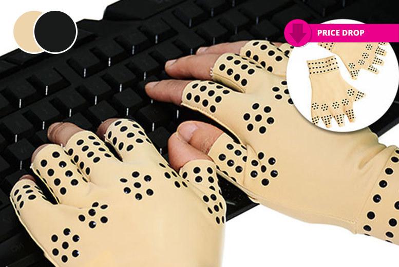 Anti-Arthritic' Magnetic Compression Glove – 2 Colours! for £3.99