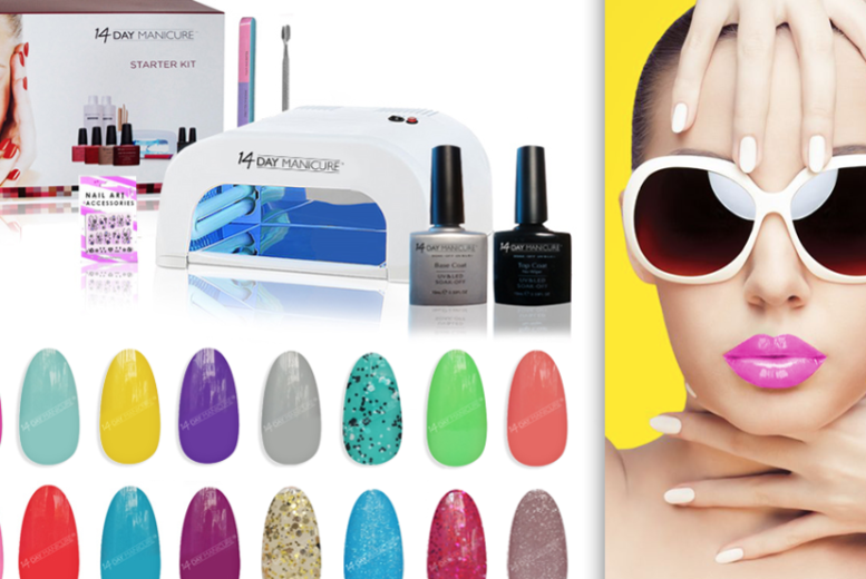 Gel Polish UV Nail Kit with 1,2,4 or 8 Colours from £25