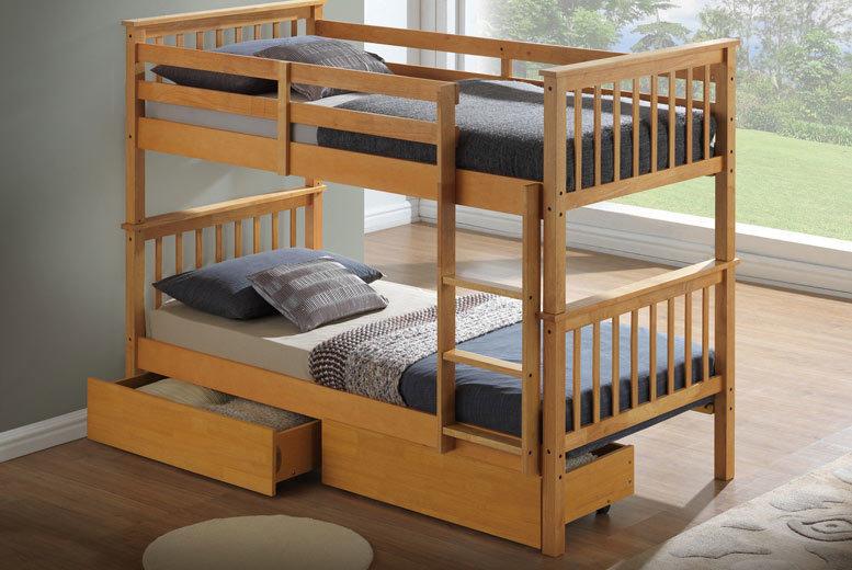Children's Beech Bunk Bed from £169