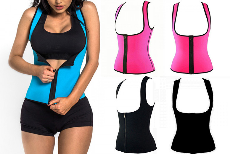 Waist Training Workout Top – Sizes UK 10-16 & 3 Colours! for £9.00