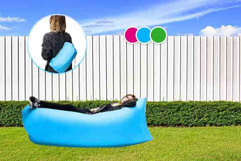 £29 instead of £55 (from Tomllo) for a layzee inflatable lounger - choose from three colours and save 47%